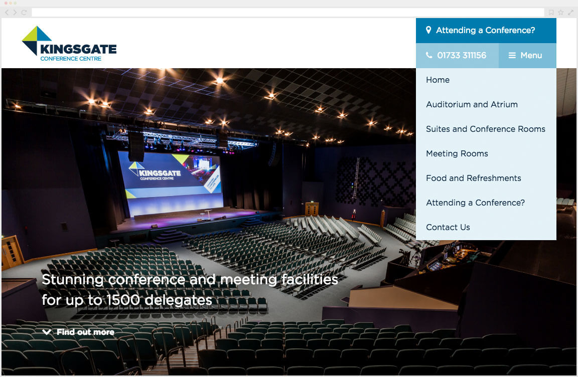KingsGate Conference Centre Website
