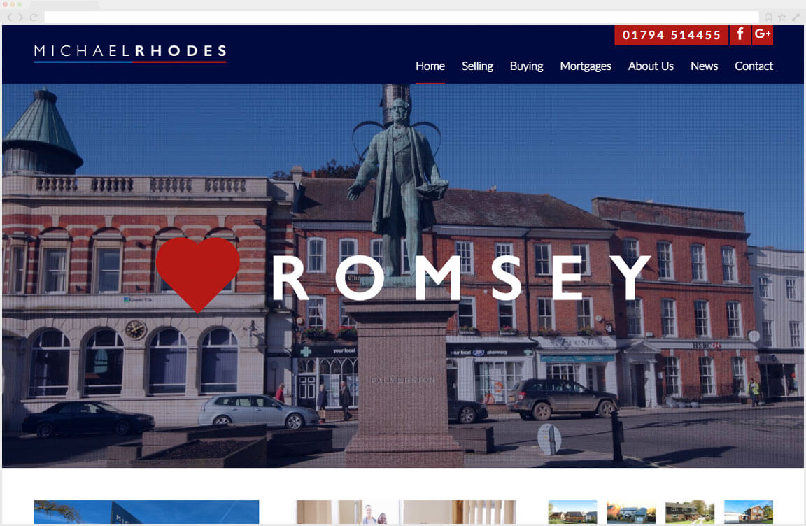 Michael Rhodes Estate Agents Website