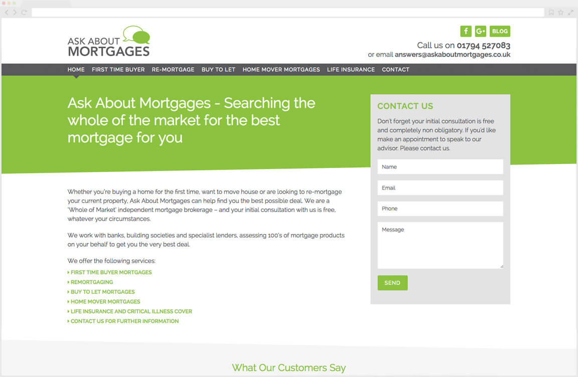 Ask About Mortgages Website