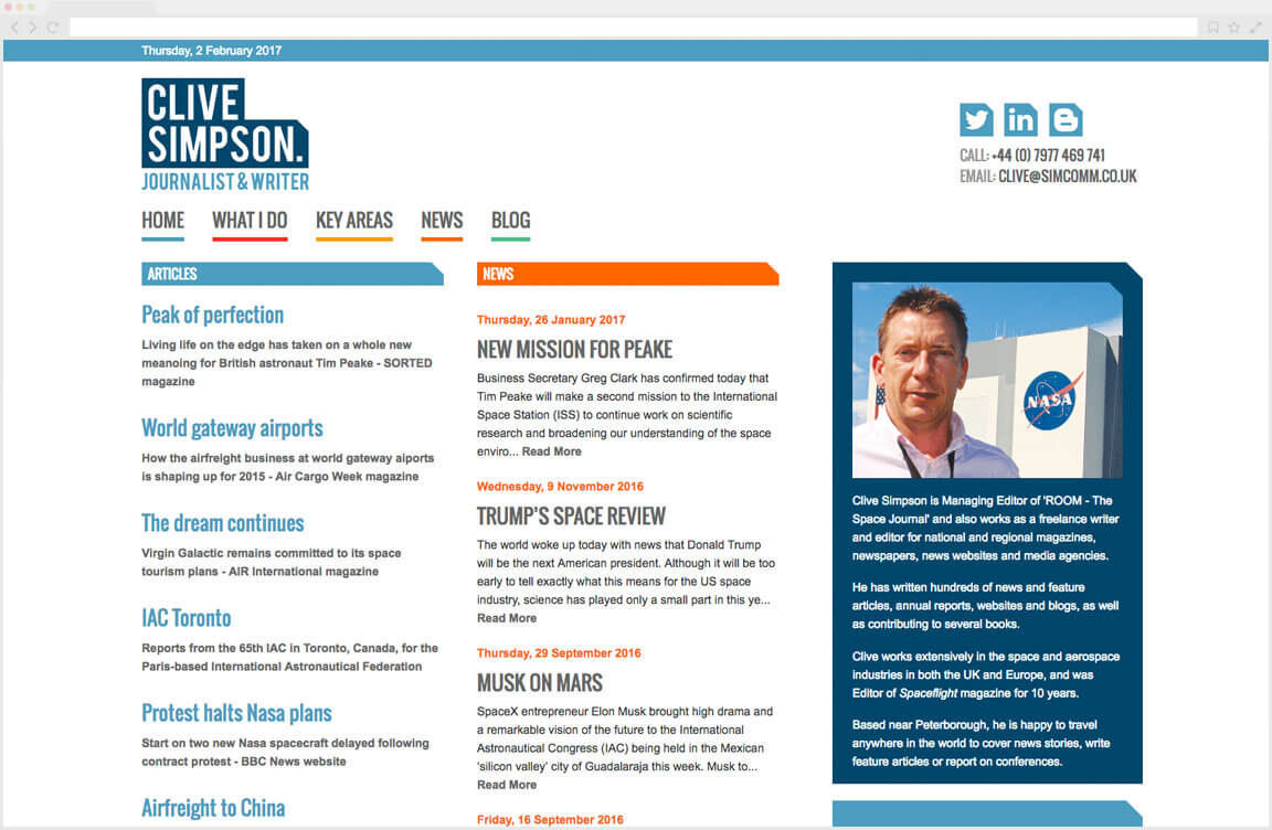 Clive Simpson Journalist Website