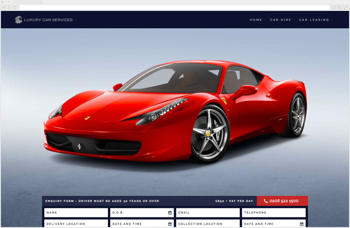Luxury Car Services Website